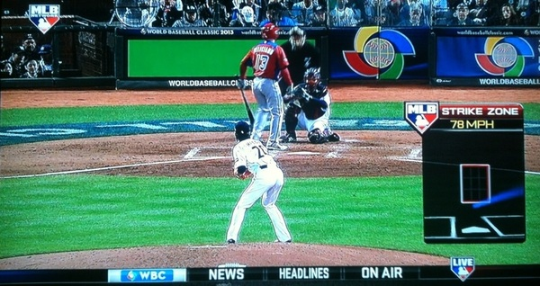 Strike zone sports technology by @MLBNetwork at the 2013 @WBCBaseball. #Japan #Maeda #TeamPR #WBC