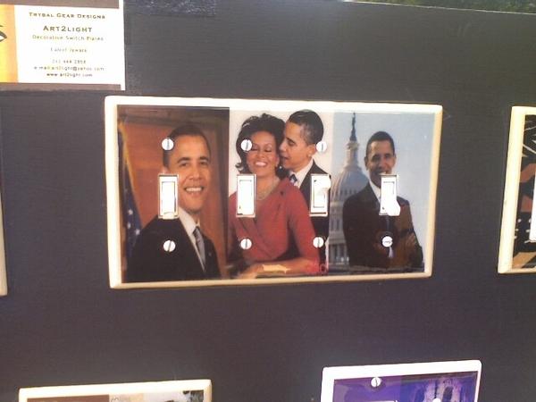 Obama light switch on Fulton!