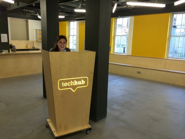 Here's @jasmyntuck at the NEW @techhub Shoreditch building!