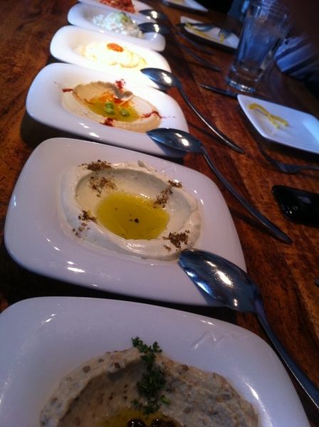 At @JoseAndres Zaytinia resto:stellar meal, starting w all the classic Greek/Middle Eastrn spreads&just-baked pita