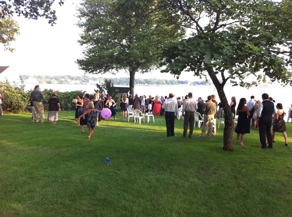 Beautiful night and beautiful location for Tim and Kelly's reception!