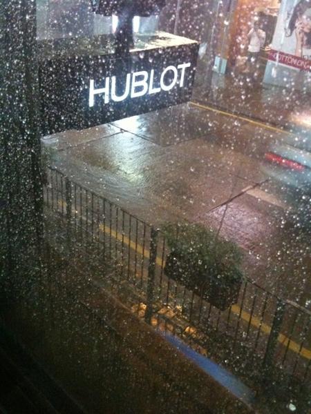 Serious rain coming down