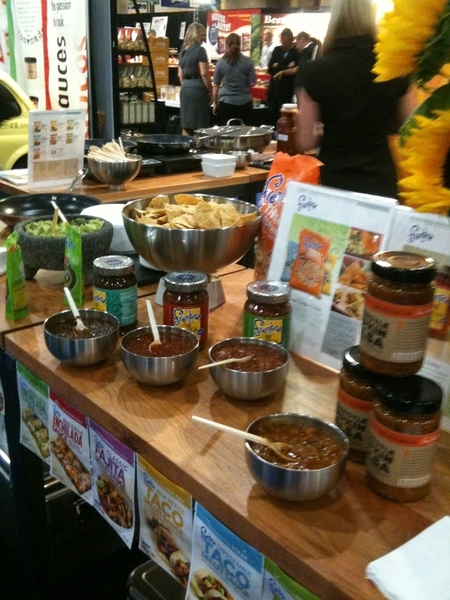 2nd day Fancy Food Show @ Javits n NYC. Introducing Skillet Taco Sauces.Serving Red Chile Chix Tacos @ booth 5142