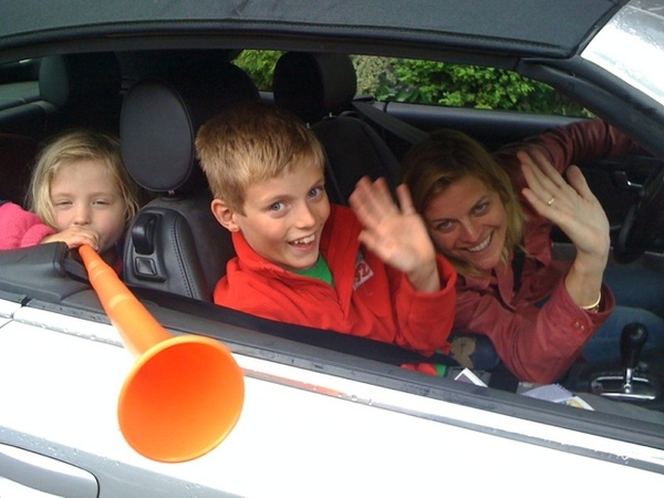 We're off for a weekend Domburg w/ friends 'n kids; @huub have fun in Maroc!