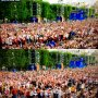 UEFA Fan Zone at Euro Cup 2016, Polish fans before and after their goal versus Swiss. #EURO2016