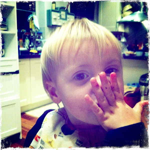 Fletcher of the day:  hand on mouth