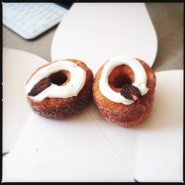 Cronut flavor of The month: mascarpone And fig., for @dutchcowboy And @mathys
