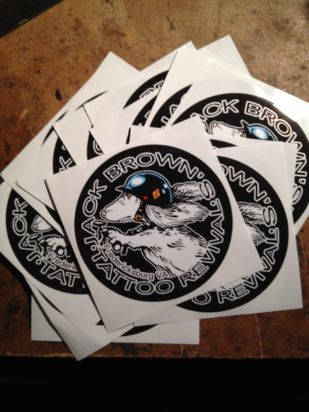Time for sticker fun. Thanks @TattooRevival @KennyDreamboat