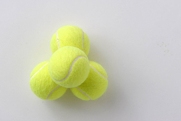 安井政昭 カメラに挑戦 テニスボール(4球)