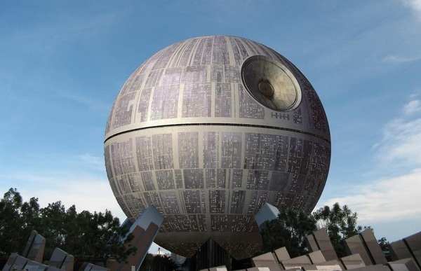 Due to our purchase of LucasFilm, Spaceship Earth is now Deathstar Earth.