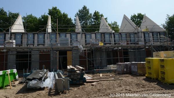 De A-kavels @bouwenisbeleven #molenhoef #rosmalen hebben op 1e verdieping kozijnen gekregen