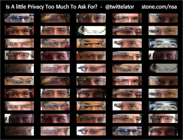 "Slides for my talk ""Is A Little Privacy Too Much To Ask For?"" http://stone.com/nsa @katiestone #snowden #prism"