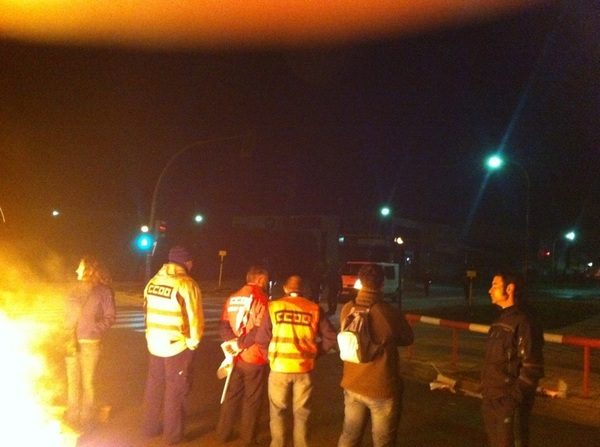 Aparecen los copman preparados Burgos @huelgageneral29