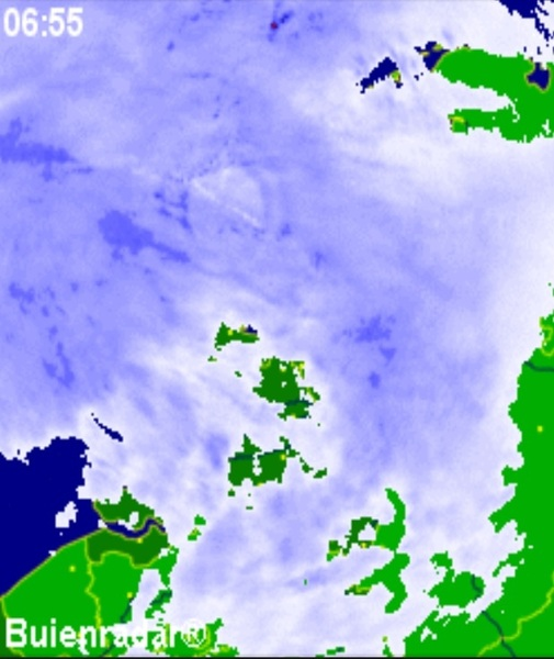 Het weer: Volop herfst; veel wind en regen. Max.: 15°C.