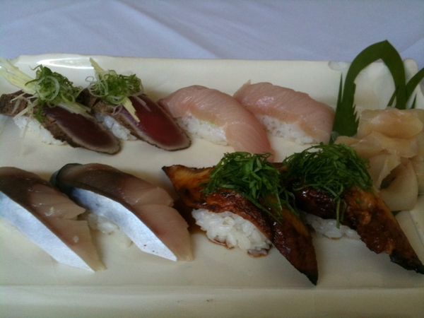 Eating REALLY amazing sushi @ Nashimura b4 heading to Red O for dinner service. And they're playing Nora Jones...