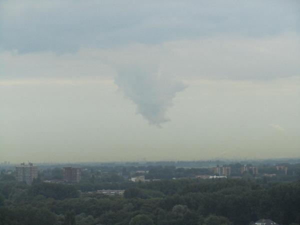 Scud cloud gisterochtend. #buienradar #buienradar