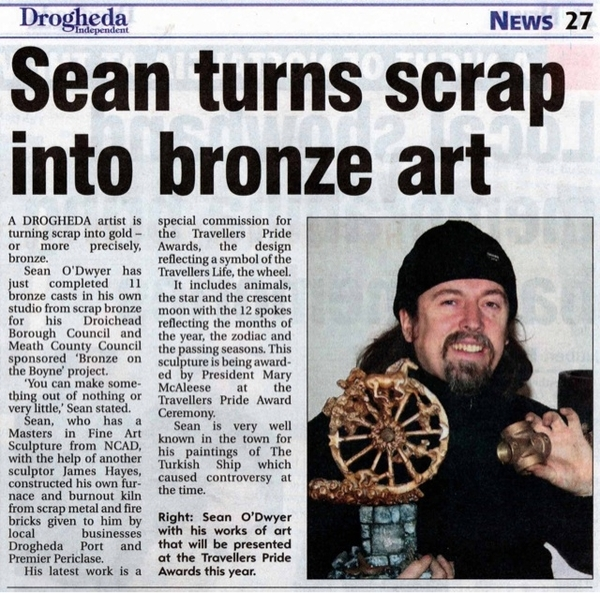 Article about Sean in the Drogheda Independent