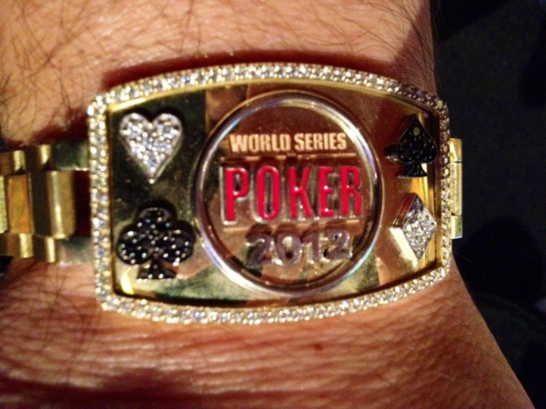 PIC: bye bye WSOP Bracelet #13.  Gave #WSOPBracelet13 to my best friend @Chamath.  Gave 10 to family, 1 to bestie