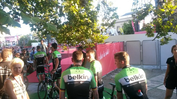 Thrilled to get started. @TeamBelkin @lavuelta #zinin