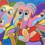 Zeefdruk Trio de concertos