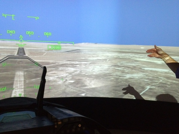 Some humor from @yembrick on the simulator screen #NASASocial #OV105 #SpotTheShuttle