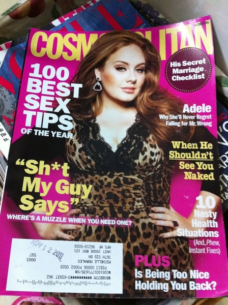 Love to see Adele on the cover of December issue of Cosmopolitan. Looking great! ❤