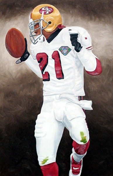 @PilarSanders mrs P. If this painting ever made it to you guys could u plz get a pic with Deion and u with it.