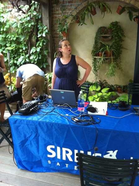 Getting ready for our live broadcast of Fiesta at Ricks at Martha Stewart Living Radio on XM!