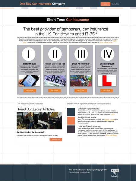 The Best Provider Of Temporary Car Insurance