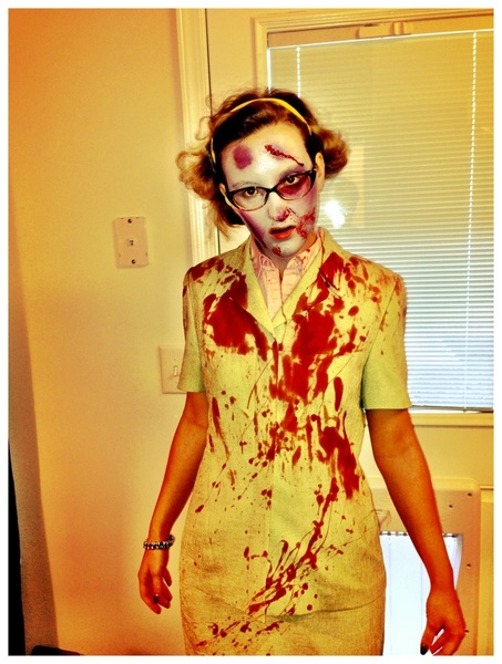 So it appears that @Sfaierie is all ready for brains, I mean work. I think I zombied her well. #fb
