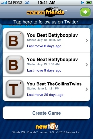 Umm errr uhhh i'm 2-0 w/u RT @BettyBoopLuv Damn I left my ipod at home.. Ur gonna lose anyway! Lol