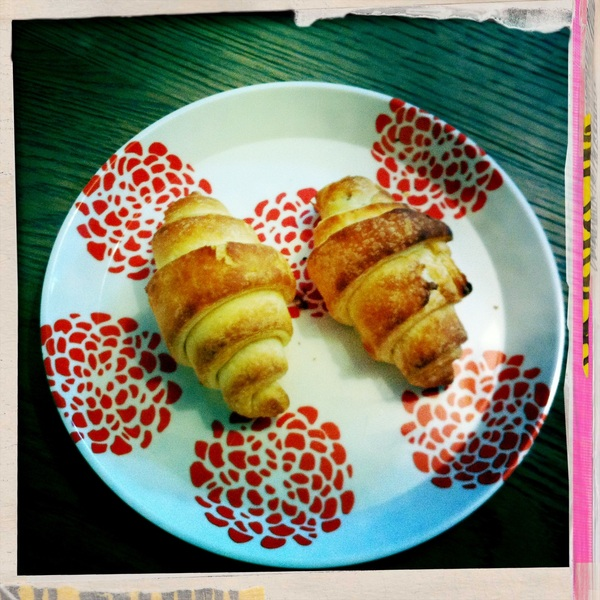 Gluten-free chocolate croissants for Oma Mary