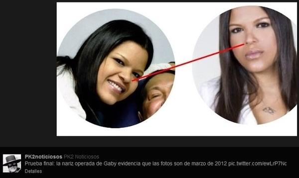 MARIA GABRIELA SE OPERO SU NARIZ EN NOVIEMBRE  2012, LA IMAGEN QUE SALE JUNTO AL PRESIDENTE CHAVEZ ES ANTERIO A ESTO