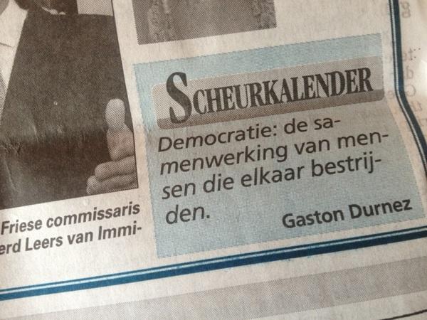 Fijn. Er waait een andere wind in Den Haag. Zelfs De Telegraaf doet mee. Geniet er van zo lang het kan