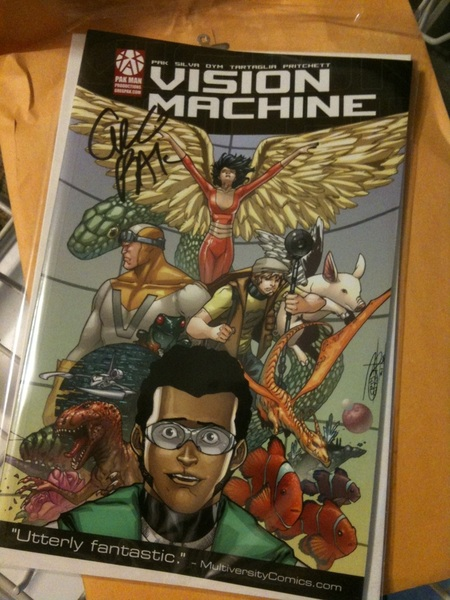 Waiting for me when I got home tonight from @gregpak. Thank you, sir! #VisionMachine