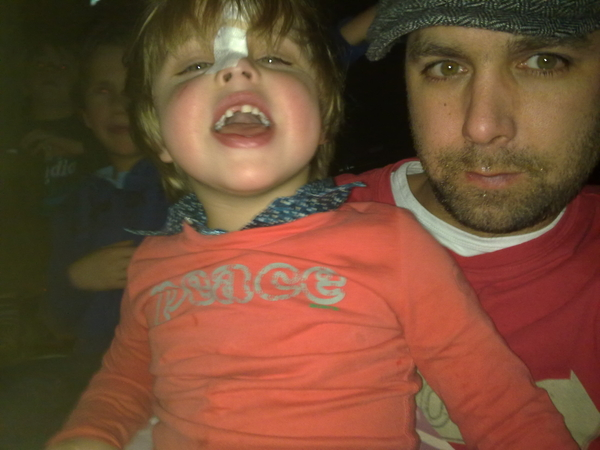 Me and xander @ hmh last sunday... His first concert..