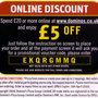 Domino's Pizza UK £5 Discount