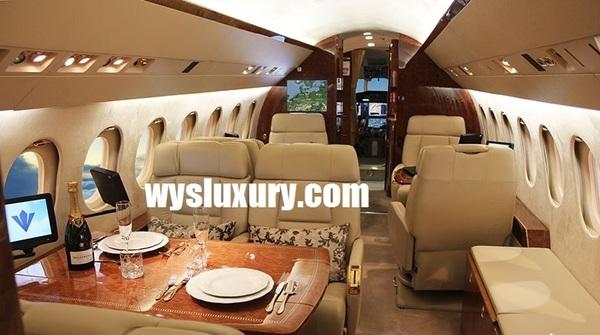Dassault FALCON 900EX EASY Interior Private Jet Air Charter Flight