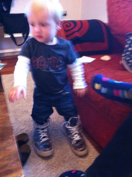 Fletcher of the day: papa's shoes