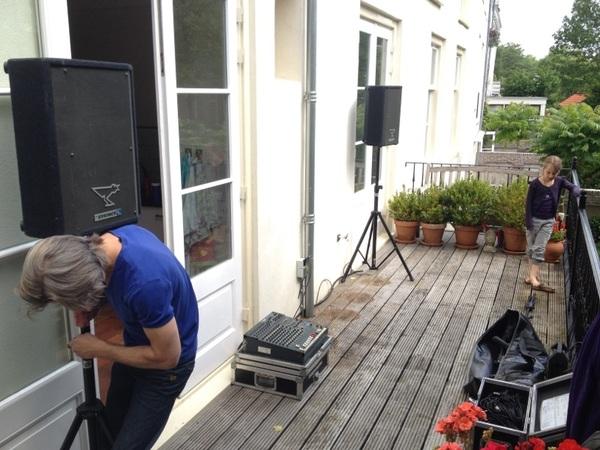 Artiesten 'in da house' @jsax_nl bouwt gear op voor opening #Struinen Aanvang 12.00 Deuren open 11.50