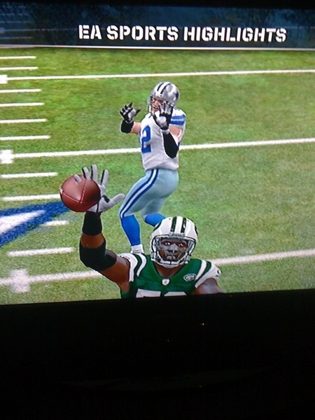 THIS is how I lose in Madden12 though? Clearly my defender has his ENTIRE hand on the ball! HOW does Witten catch this?
