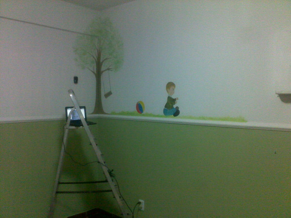 Olhem como está o quarto do Guilherme...