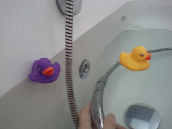 Niet alleen in bad