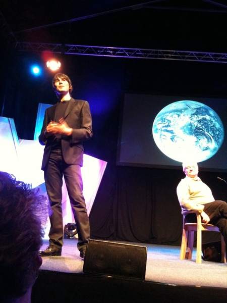 Brian Cox was sensationally good last night at #hayfestival. Enjoyed Rumer in concert also.