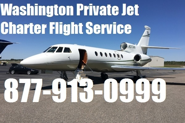 Private Plane Air charter flight service from or to Seattle, Tacoma, Spokane Washington