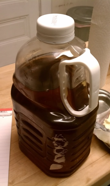 Question, if you had this much #vermont maple syrup what would you do with it? #togs #vt