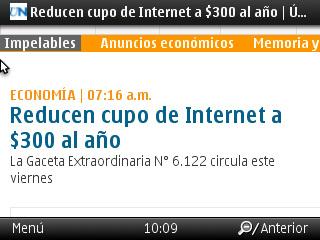 Cupos electrónico a $300 www.ultimasnoticias.com.ve/noticias/actualidad/economia/reducen-cupo-de-internet-a-300-al-ano.aspx