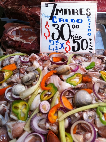 Ensenada Seafood Mkt: every fish sign has cooking suggestions, plus they sell a mix for seafood stew (7 mares)