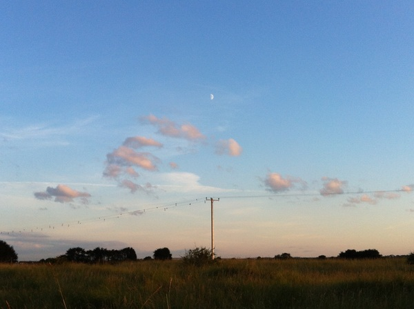 """""""Pyramid of Cloud Beneath a Half Moon"""""""