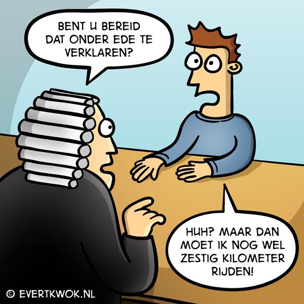 Bent u bereid dat onder ede te verklaren? #cartoon